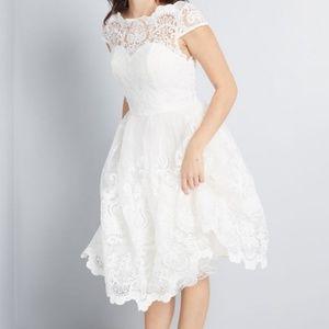 Chi chi london white lace dress NWT